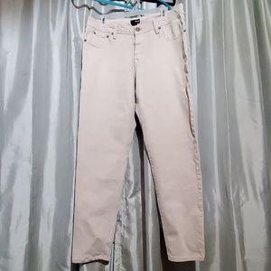Ana light khaki ankle crop jeans sz 12